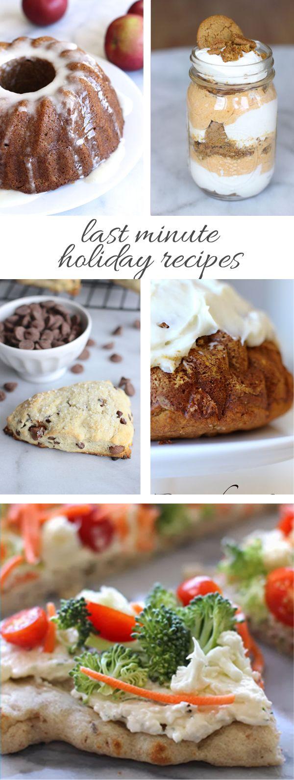 Last Minute Holiday Recipes via @mystylevita #holidays #entertaining #desserts