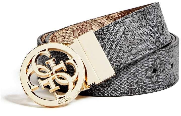 GUESS Women's Reversible Quattro G Signature Belt   Belts