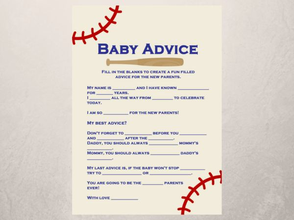 baby shower baby advice for the new parents card baby shower