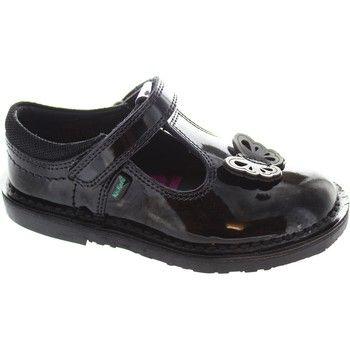 Flat shoes Kickers Adlar T Patl Girls leather shiny black patent mary jane school Black 36.18 £