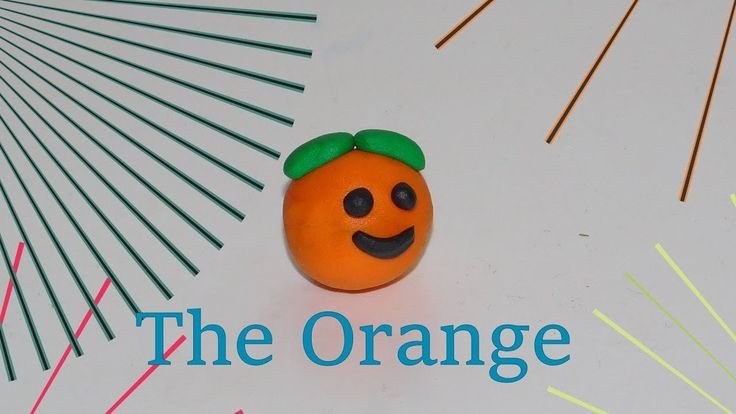 How to make a Orange out of clay!!!