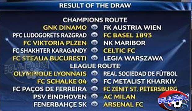 Hasil Pengundian Play-Off Liga Champions 2014-2015, Hasil Undian Liga Champions 2014-2015,  Hasil Drawing Play-off Liga Champions 2014, Federasi Asosiasi Sepak Bola Eropa (UEFA) telah merampungkan drawing play-off Liga Champions 2014-15