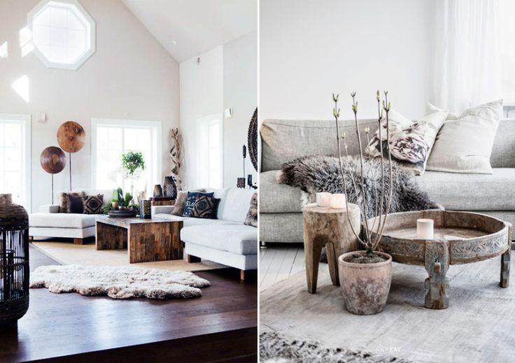 Дизайн интерьера в стиле рустик с элементами декора из грубого дерева