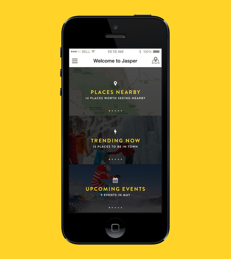 Tourism App – Home screen by Éric Le Tutour