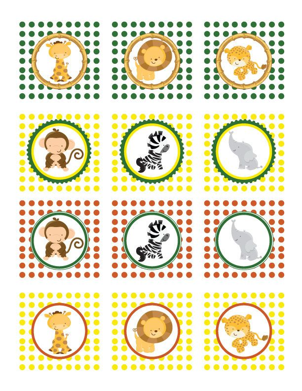 Safari Animal Cupcake Toppers by ajzdelights on Etsy, $7.00