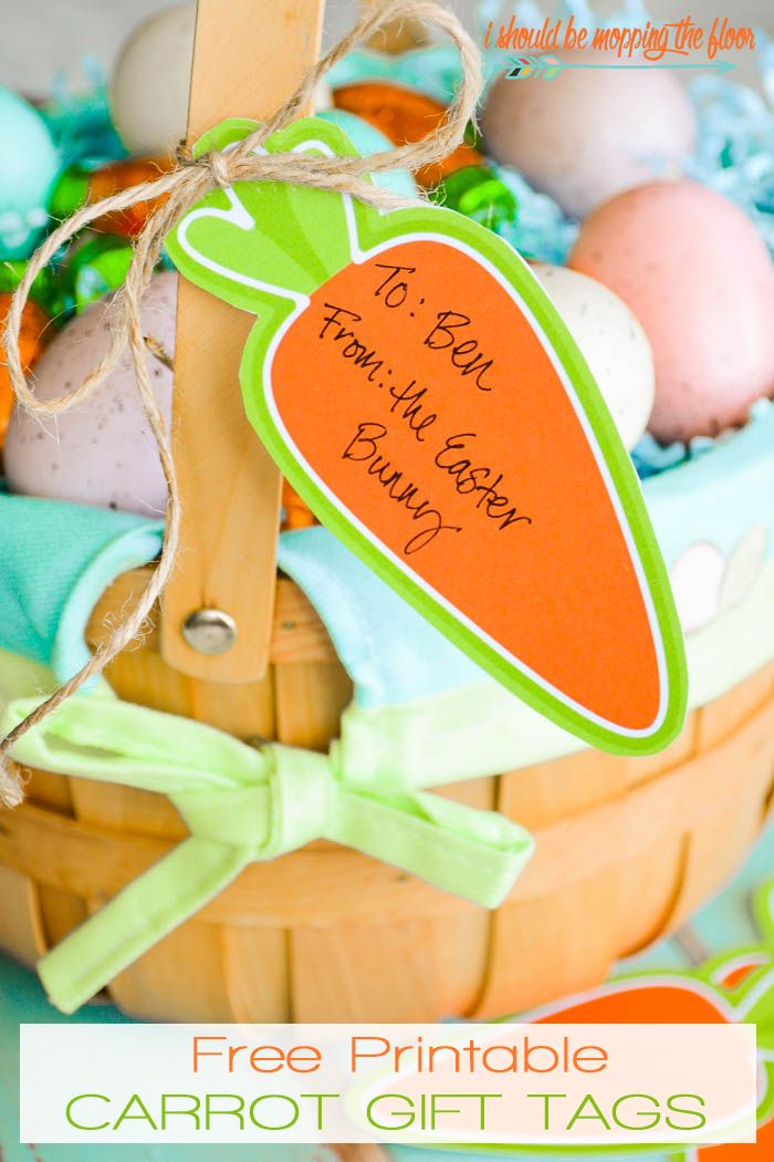 Free Printable Carrot Gift Tags | These cute carrots are fun for Easter basket t...