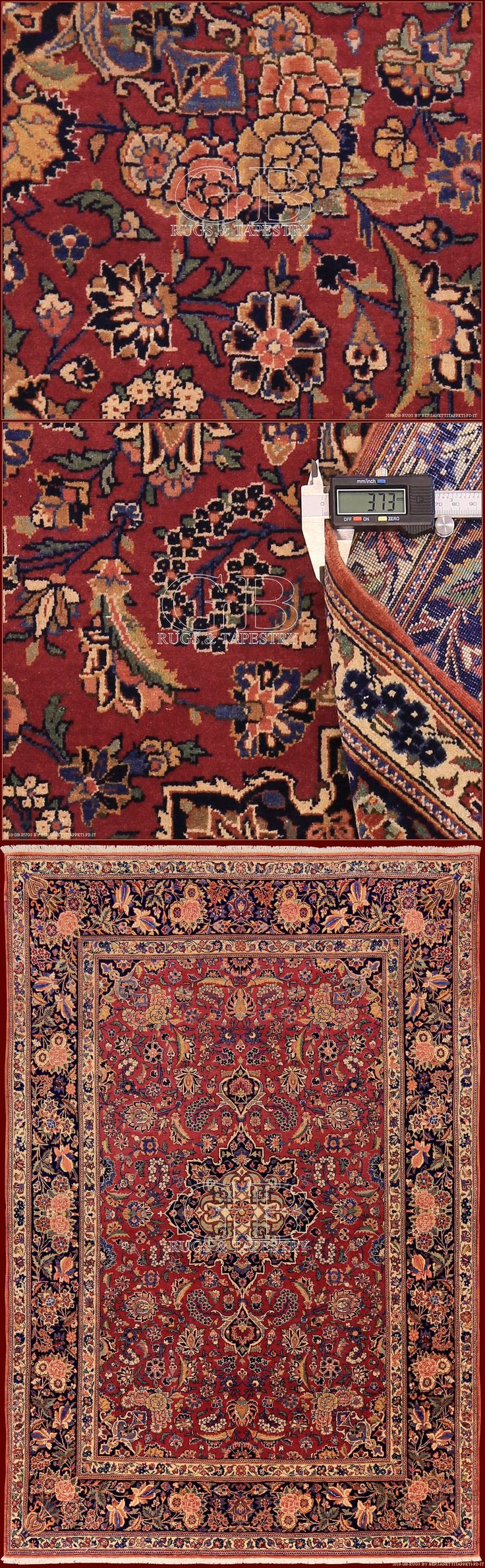 KASHAN_RUGS cm 205 x 139ft 6'7 x 4'6 Cod:: 141406560770 City of central Iran, important for the production of rugs until the Safavid period. The dominant colors of these rugs are the blue and the red, gotten by the cochineal.