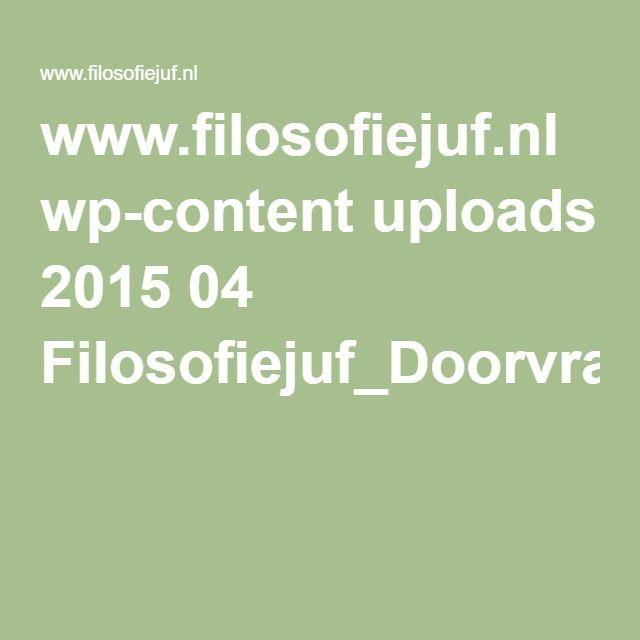 www.filosofiejuf.nl wp-content uploads 2015 04 Filosofiejuf_Doorvraagkaarten.pdf