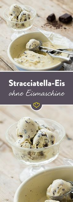Auch ohne Eismaschine kannst du cremiges Stracciatella-Eis selbst herstellen. Was du brauchst, sind entsprechende Zutaten, ein Gefrierfach und Geduld.