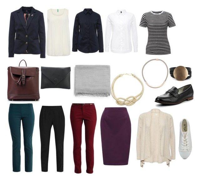 Базовый гардероб 2 с акс by lokidar on Polyvore featuring мода, Vero Moda and Benetton