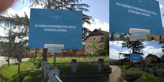 Itthon: Fotó: Székelyföldön csattant a válasz Orbánék plakátjaira - HVG.hu
