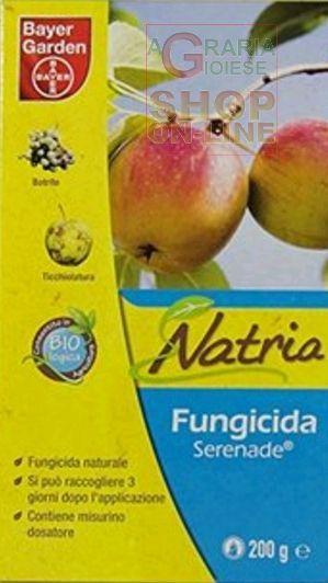 BAYER SERENADE FUNGICIDA NATRIA A BASE DI BACILLUS SUBTILIS GR. 200 https://www.chiaradecaria.it/it/linea-garden-fungicidi/1239-bayer-serenade-fungicida-natria-a-base-di-bacillus-subtilis-gr-200-8000560884395.html