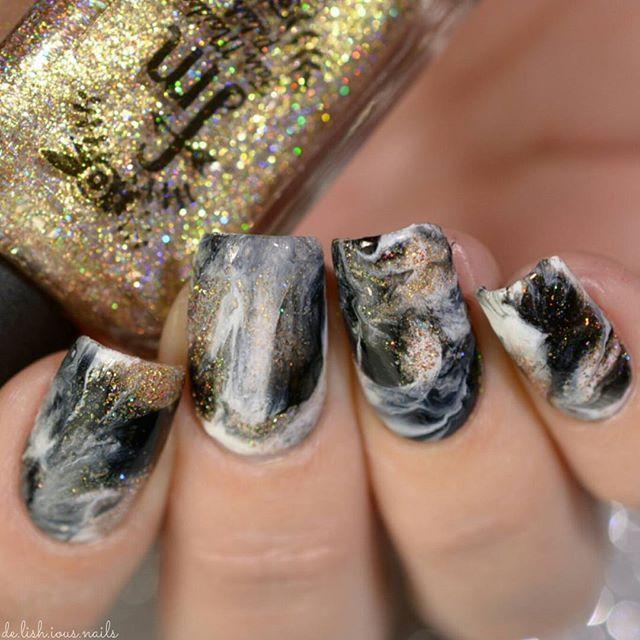 Stone Marble Nail Art Design