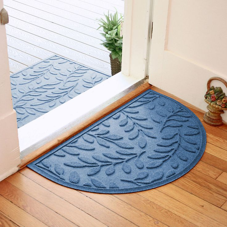 WaterGuard Brittany Leaf Indoor Outdoor Mat Multiple colors and sizes.  2x3 for front door and smaller for backdoor and slider.