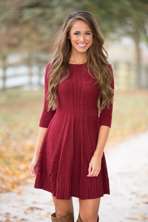 This adorable sweater dress is so perfect for the season - you'll love wearing this all day or night long!