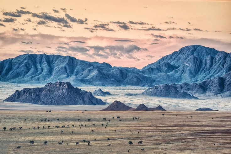 Blue Namibia's Mountains by Nerijus Lostinhdr on 500px
