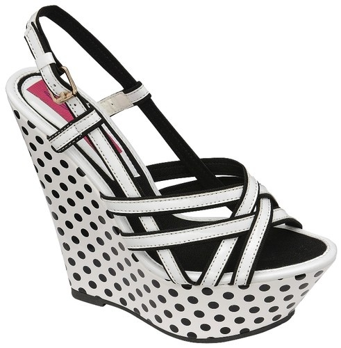 Black And White Polka Dot Platform Shoes