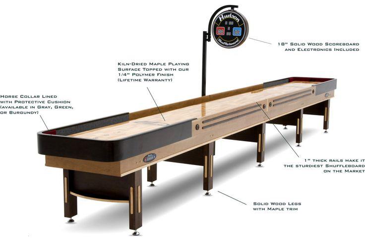 The 9′ Grand Hudson Shuffleboard Table.