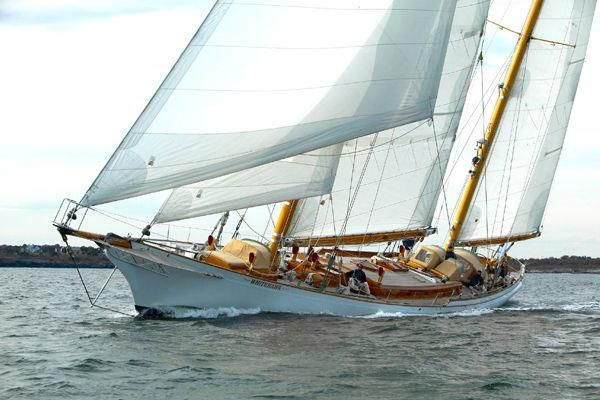 Classic Wooden Sailboat.
