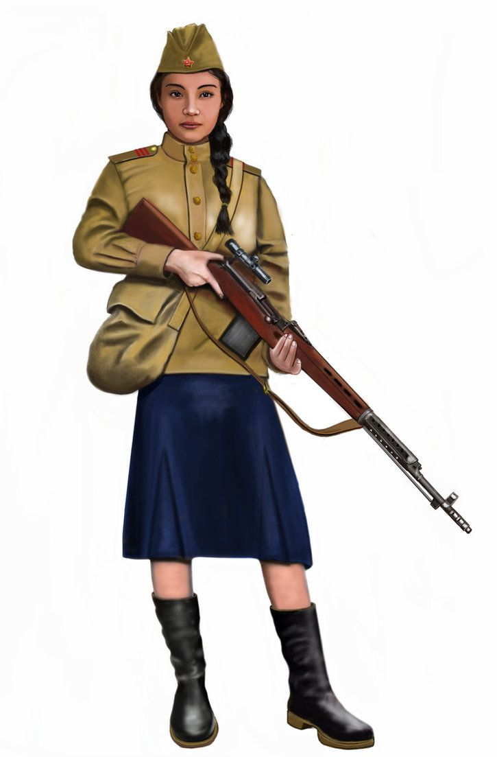 ww2 - 1941,  Red army Sniper by AndreaSilva60