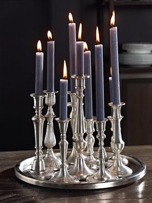 ∷ Variations on a Theme ∷ Collection of silver candlesticks