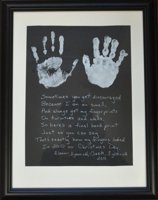 Cute Mother\'s Day gift, his hands as a kid & a picture of mom n son ...
