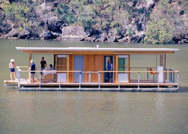 Arkiboat Houseboat by architect Drew Heath  Think house boat plans / design without the boat!