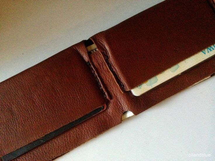 oil and blue: DIY LEATHER WALLET & PATTERN TEMPLATE