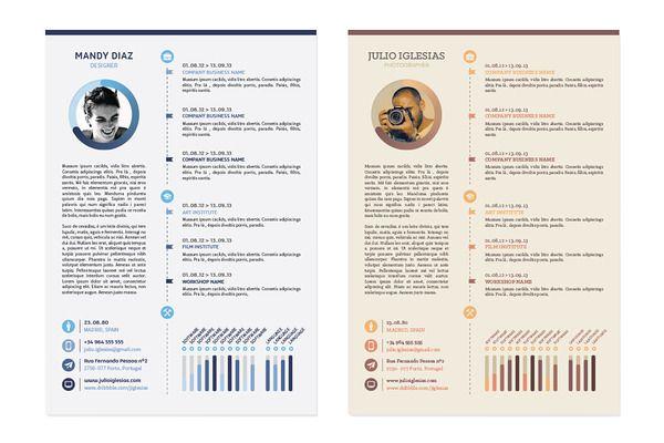 Unique Resume 20 Best Creative Cv Images On Pinterest  Design Resume Resume