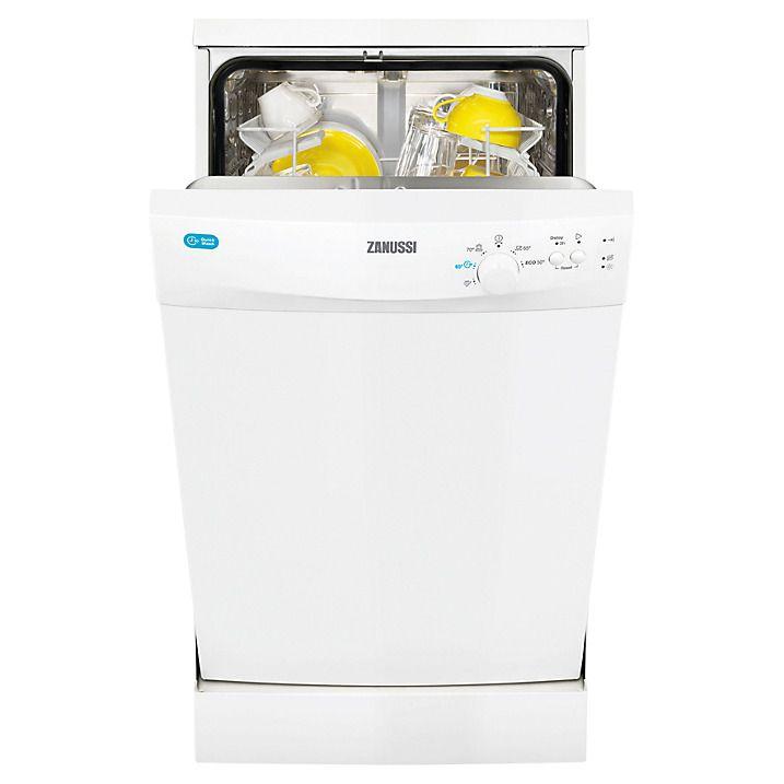 Buy Zanussi ZDS12001W Slimline Freestanding Dishwasher, White Online at johnlewis.com