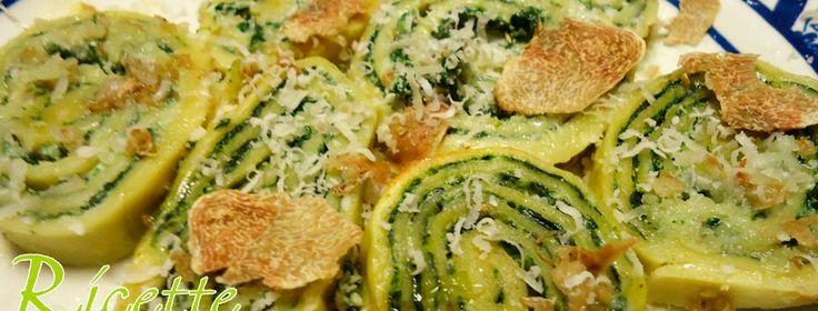 Rotolo di pasta ricotta e spinaci con tartufo