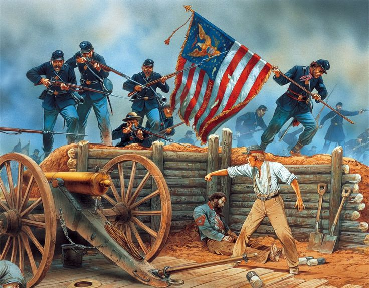 Union army in battle | Civil war art, Civil war photos ... |American Civil War Battle Paintings