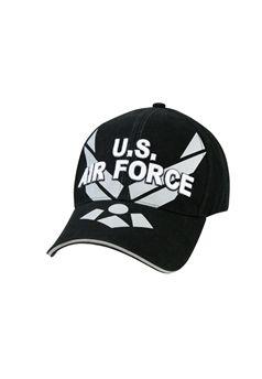 Black Air Force Wing Deluxe Low Profile Insignia Cap ! Buy Now at gorillasurplus.com