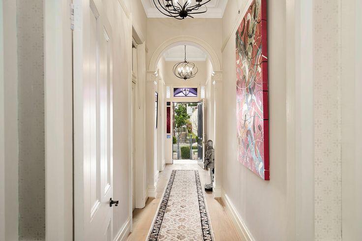 Wide entrance hall, French Oak floorboards