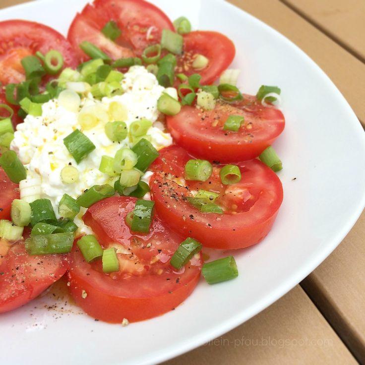 Tomaten mit Hüttenkäse