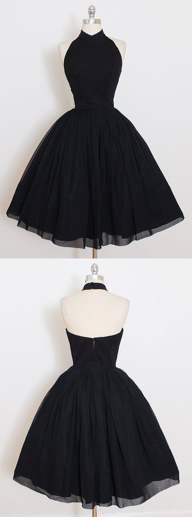 schwarze Heimkehr Kleider, elegante Vintage Party …
