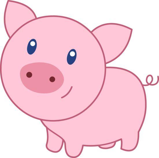Cute Happy Pink Pig  Free Clip Art cakepins.com