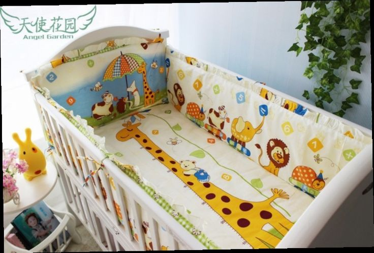 42.80$  Buy now - http://alith8.worldwells.pw/go.php?t=32381384938 - Promotion! 6pcs Cotton Baby Bedding sets Baby Cot Bed Bumper Set For Newborn Cot Set , include(bumpers+sheet+pillow cover) 42.80$