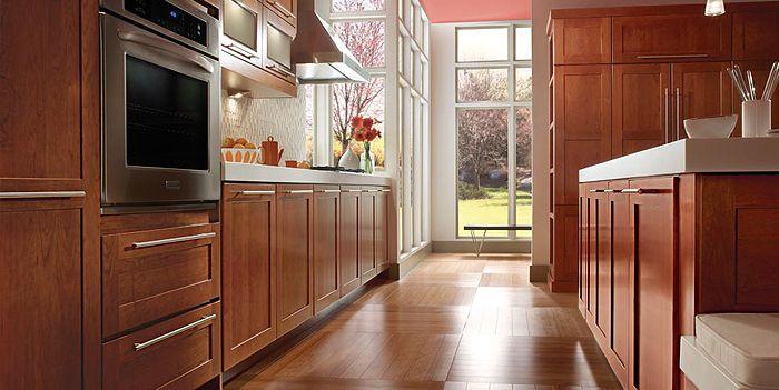 kraftmaid durham cherry cinnamon kitchen cabinets