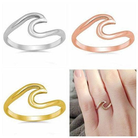 Stackable 10k White Gold Mid Finger Band Above the Knuckle Midi Ring