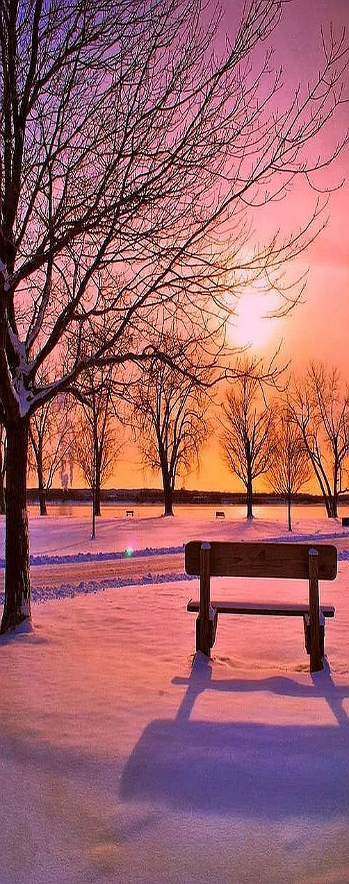 AMAZING SHOT !! sunset winter snow #photo by NurCaN - plus.google.com