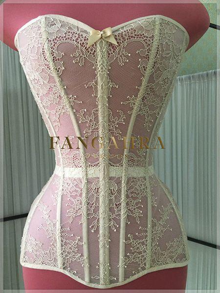 High overbust transparent corset