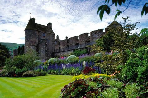 village of Falkland, this was the Falkland Palace - favorite retreat of the Stuart dynasty and a former residence of Mary, Queen of Scots.
