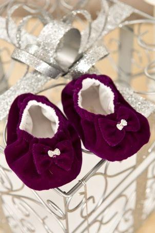 "Velvet bootees for little girls, matching the ""Eva"" dress.  http://www.petitecoco.ro/shop/en/home/54-eva-baby-girl-bootees.html"