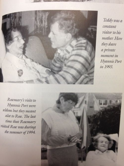 Picture 1: Rose and Ted Kennedy.  Picture 2: Rosemary and Rose Kennedy
