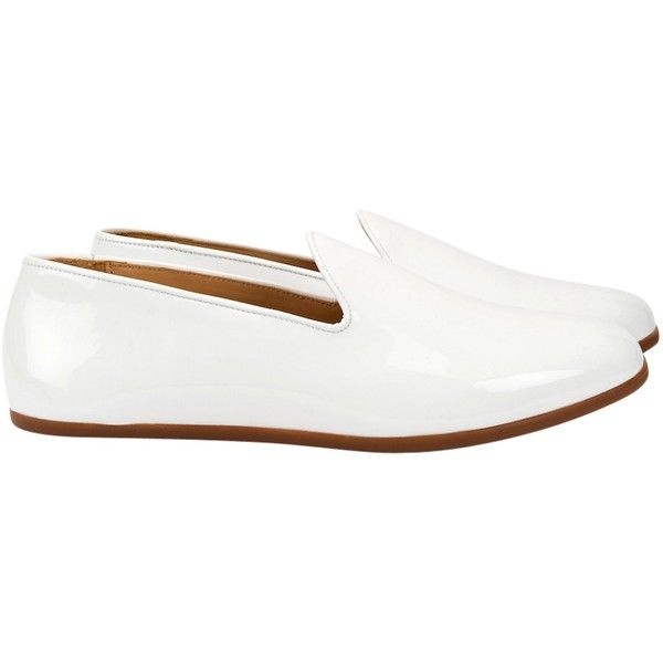Galet - Champagne White (34390 DZD) ❤ liked on Polyvore featuring men's fashion, men's shoes, men's loafers, mens white shoes and mens loafer shoes