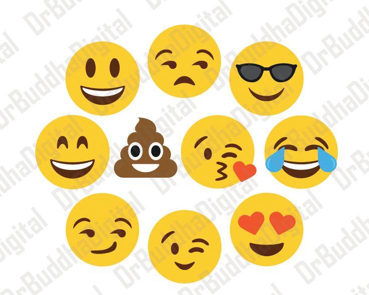 Emoji SVG Collection - Emoji DXF - Emoji Clipart - Svg Files for Silhouette Cameo or Cricut by DrBuddhaDigital on Etsy