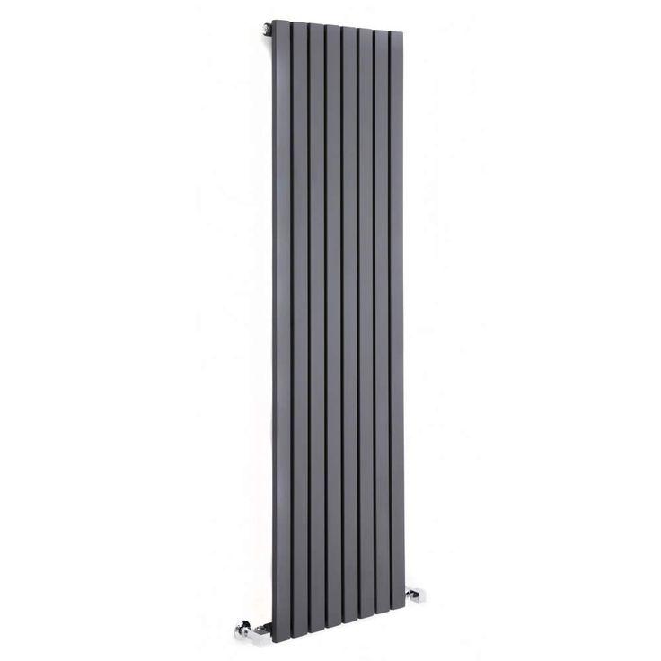 Design Heizkörper Vertikal Einlagig Anthrazit 1600mm x 354mm 862W - Sloane - Image 2