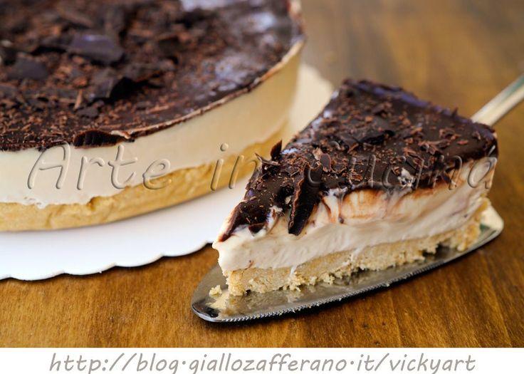 Cheesecake al caffe e cioccolato torta fredda, ricetta facile, dolce senza forno, ricetta estiva, torta gelato, veloce, dolce da merenda, cheesecake con philadelphia