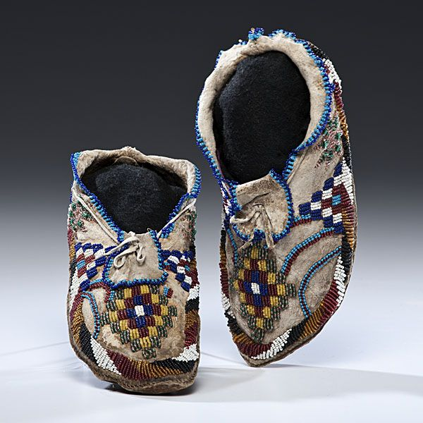 apache beaded hide moccasins 4122012 american indian